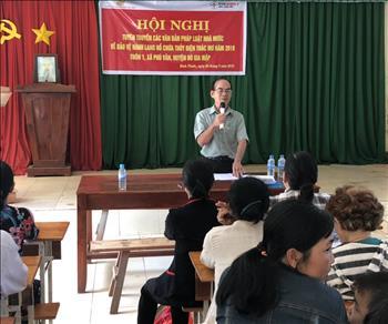 Thuỷ điện Thác Mơ tuyên truyền văn bản pháp luật nhà nước về bảo vệ hành lang hồ chứa cho xã Phước Tín và xã Phú Văn