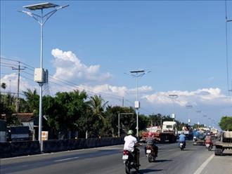 Hiệu quả đèn năng lượng mặt trời trên quốc lộ