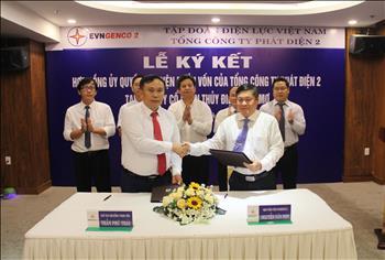 Lễ ký kết hợp đồng uỷ quyền đại diện phần vốn của Tổng công ty Phát điện 2 tại Công ty Cổ phần Thuỷ điện Thác Mơ