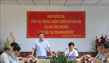 Công ty Cổ phần Thuỷ điện Thác Mơ phối hợp UBND tỉnh Bình Phước tiếp và làm việc với Đoàn kiểm tra của Bộ Công thương về công tác PCTT năm 2020