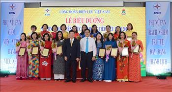 Công đoàn Điện lực Việt Nam biểu dương 114 nữ công nhân viên chức lao động tiêu biểu
