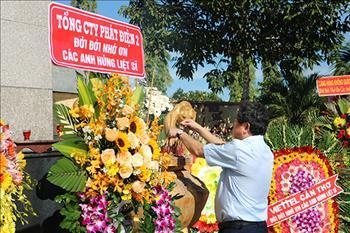Tổng công ty Phát điện 2 tổ chức Lễ viếng Nghĩa trang nhân dịp 73 năm Ngày Thương binh - Liệt sĩ (27/7/1947 - 27/7/2020)