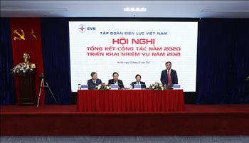 EVN tổ chức Hội nghị tổng kết công tác năm 2020, triển khai nhiệm vụ năm 2021
