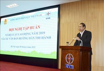 Công đoàn Điện lực Việt Nam tập huấn về Bộ luật Lao động năm 2019