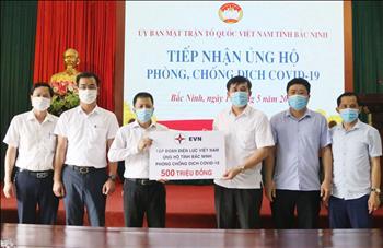 EVN ủng hộ 1,5 tỷ đồng cho các tỉnh Bắc Ninh, Bắc Giang và TP Đà Nẵng để phòng, chống dịch COVID-19