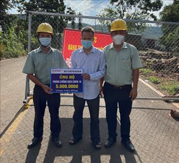 TMP thăm và tặng quà tại chốt kiểm soát phòng, chống dịch bệnh Covid-19 trên địa bàn khu phố 3, Phường Long Thủy, Thị xã Phước Long